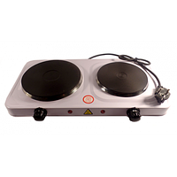 Электрическая плита Domotec HP II, плита 2 конфорочная электрическая, электроплита настольная