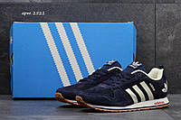 Замшевые кроссовки Adidas, мужские (темно-синие)