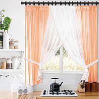 Комплект готовых штор для кухни