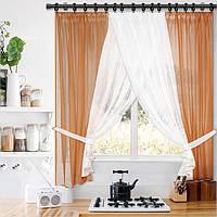 Кухонные шторы в комплекте