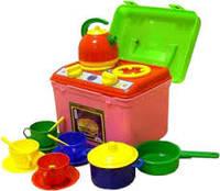 """Детский игровой набор посудки """"Галинка-6""""."""