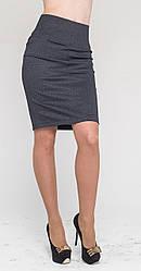 Женская юбка с утяжкой, джинс, р.42-52