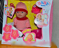 Кукла Baby born, 9 функций, 9 аксессуаров, пищалка, горшок, 2 соски, BB8001 K HN
