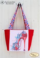 """Пошитая сумка для вышивки бисером """"Мегаполис"""""""