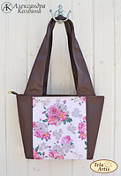 """Пошитая сумка для вышивки бисером """"Винтаж"""""""