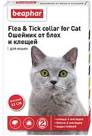 12618 Beaphar Нашийник від бліх та кліщів для кішок червоний, 35 см