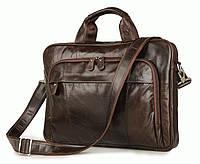 Портфель S.J.D. 7334Q кожаный Коричневый