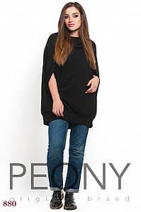 Женская туника Колорадо (50-52 размер, черный) ТМ «PEONY»