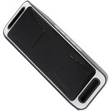 Портативная bluetooth колонка Music BL SC208 серая беспроводная с микрофоном музыкальная FM USB AUX microSD, фото 2