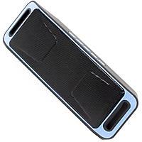 Громкая беспроводная колонка Music BL SC208 синяя с микрофоном bluetooth mp3 player USB AUX FM-радио microSD