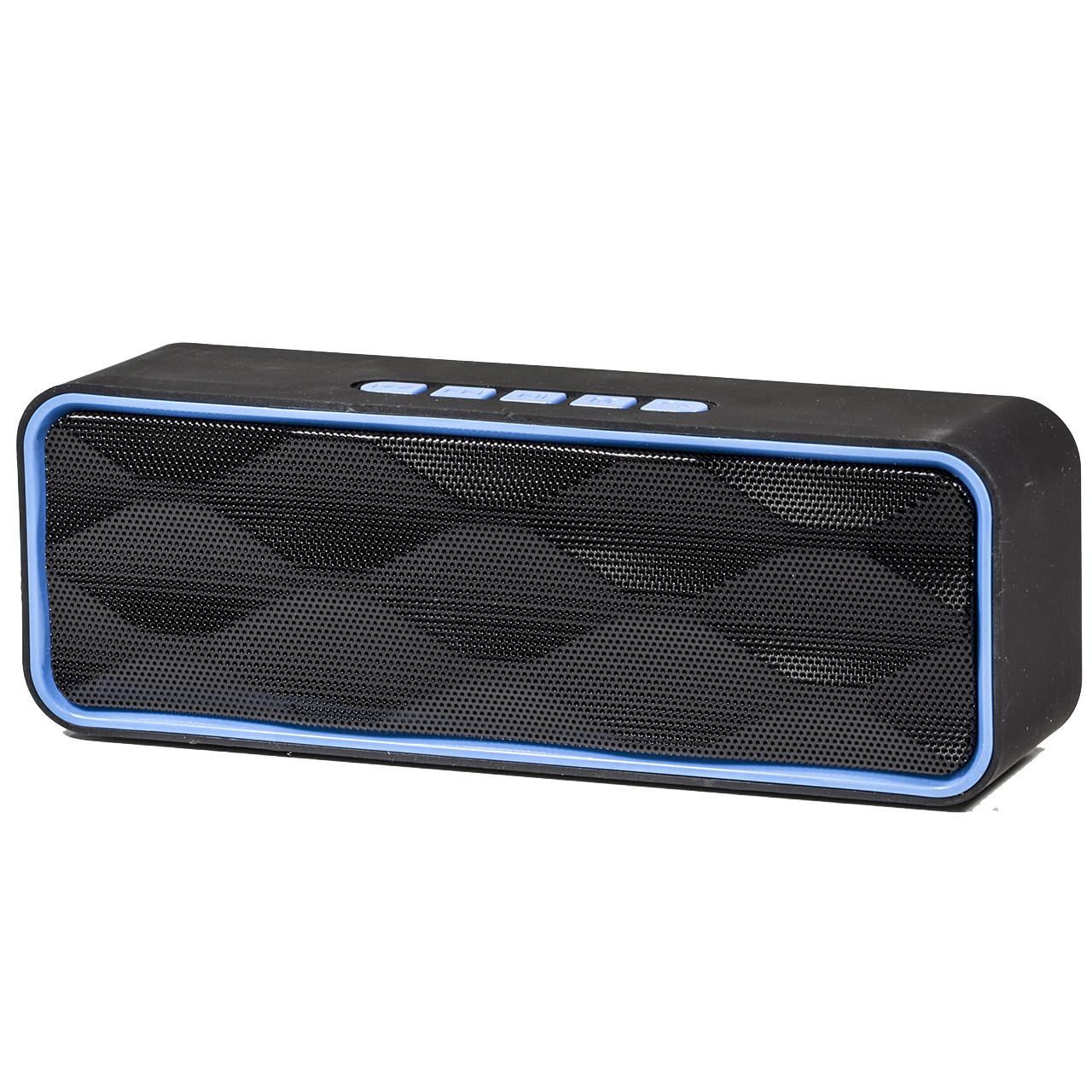 Беспроводная стерео колонка Music BL SC211 синяя с микрофоном портативная bluetooth USB AUX FM-радио microSD - интернет-магазин Mobiloz (Мобилоз) в Киеве