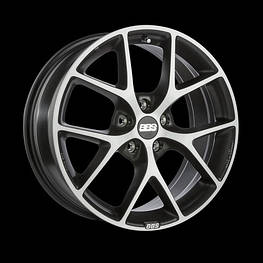 Диски BBS ( ББС ) Модель SR Цвет Volcano Grey / Diamond Cut