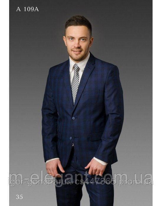 9692b101aeac Костюм синего цвета в клетку, цена 2 750 грн., купить в Киеве — Prom.ua  (ID#555752035)