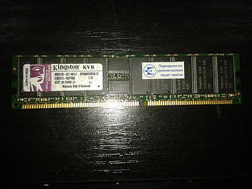 Модуль памяти Kingston, KVR400D8R3A/1G, DDR1 PC-3200 400MHz ECC, для сервера