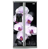 Виниловые наклейки на холодильник типа Side-by-side Орхидеи