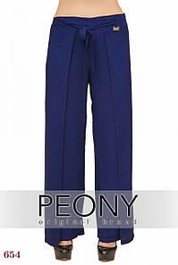 Женские брюки Бейрут (50 размер, синий) ТМ «PEONY»