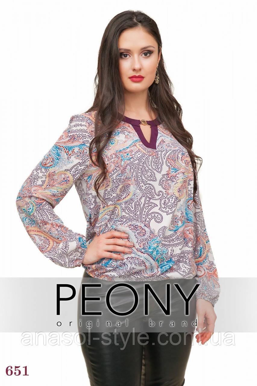 Блузка Генуя (54 размер, фуксия) ТМ «PEONY»