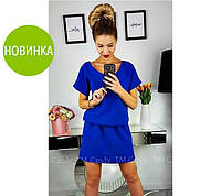 Женское летнее платье,вырез спина. Цвета:мята, персик, голубой, черный, красный, электрик Размер:42-44, 46-48