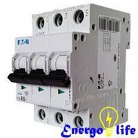 Выключатель автоматический EATON PL4-B50/3 предотвращающий скачки напряжения в сети (арт.293156)