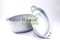Гусятница алюминиевая 2,5л с утолщенным дном и крышкой-сковородой Биол (Г301)