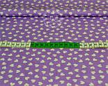 Ткань с белыми мини сердечками на сиреневом фоне (№ 817), фото 2