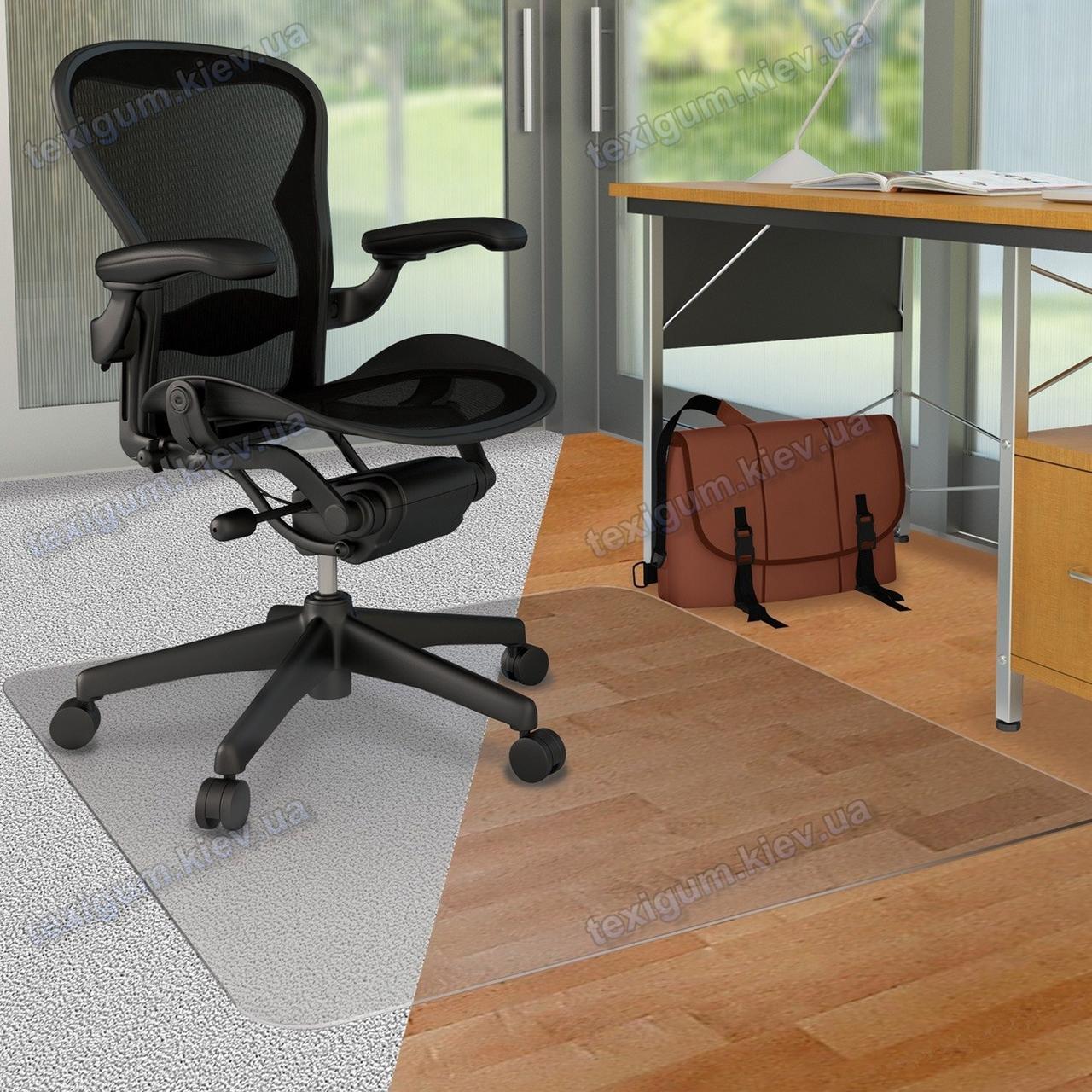 Ковер под кресло для защиты пола прозрачный 100х120см. Толщина 2,0мм