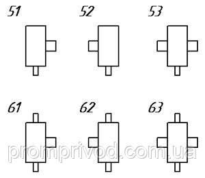 Схема вариантов сборки редукторов РГЛ