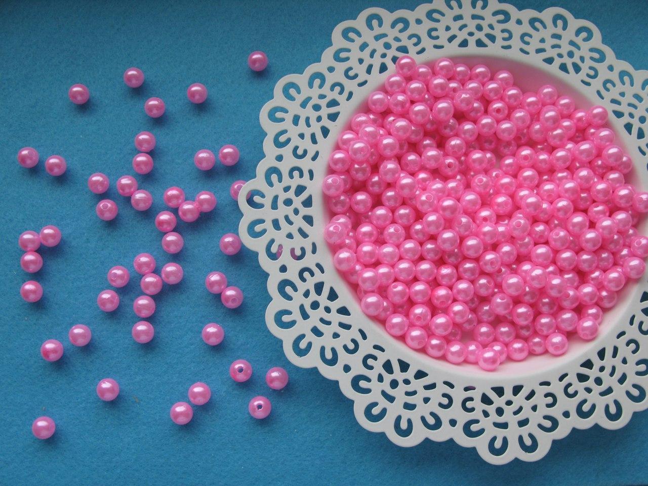 Жемчуг розовый 0.8 см. Вес упаковки 10 гр