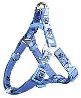 Шлея Trixie Modern Art One Touch Harness Woof для собак нейлоновая, 40-50 см