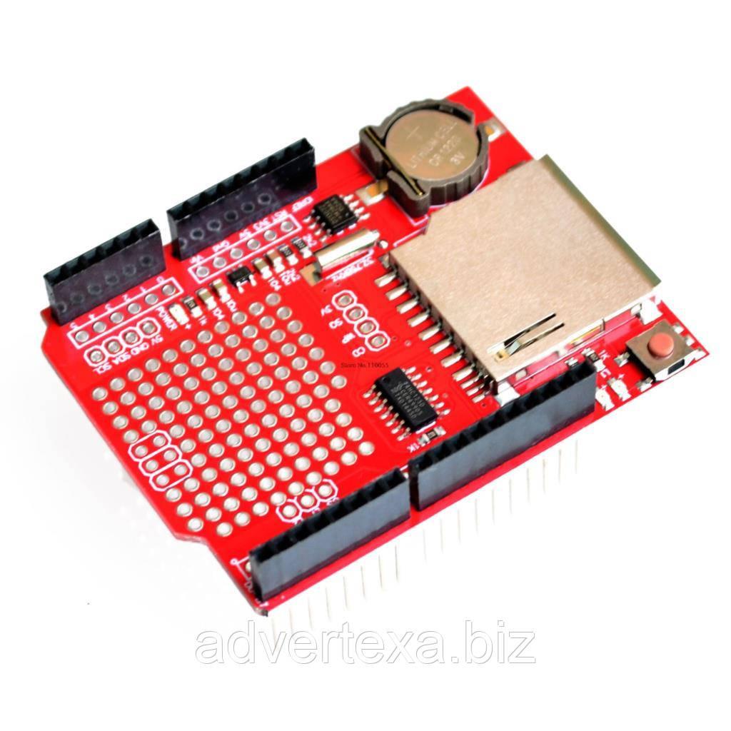 Реєстратор даних, модуль реєстрації V1.0 для Arduino UNO, з роз'ємом для SD карти і годинник реального часу