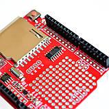 Реєстратор даних, модуль реєстрації V1.0 для Arduino UNO, з роз'ємом для SD карти і годинник реального часу, фото 2