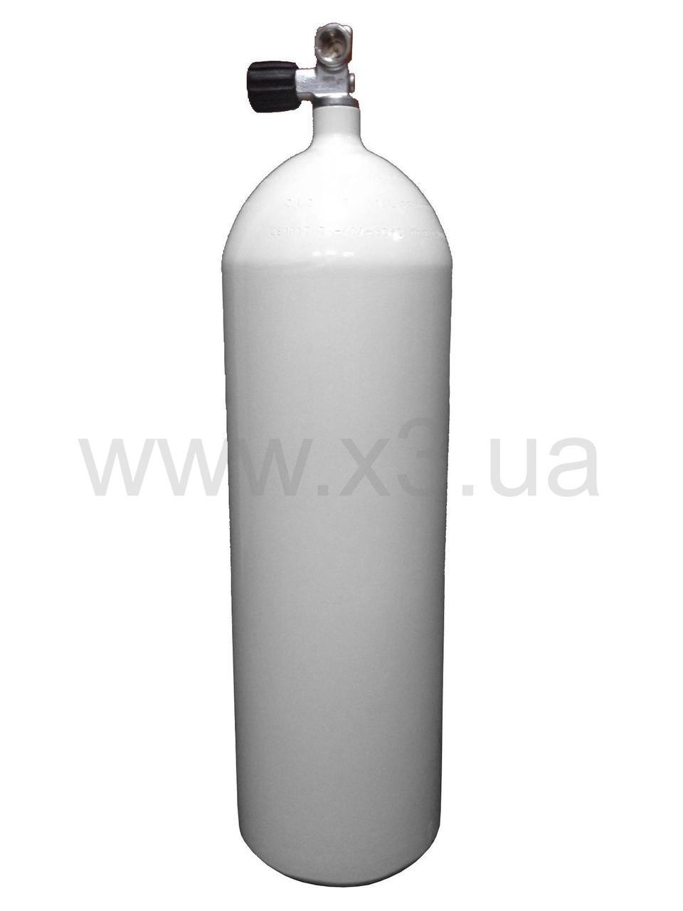 Баллон  DEEPZONE баллон стальной 15 л, 230 Bar, 171 мм с вентилем CONCAVE - ИКСТРИ в Киеве