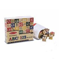 Деревянная азбука/цифры на кубиках Английский язык (MD1900)