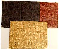 Обложка для паспорта с тиснением в виде египетского орнамента