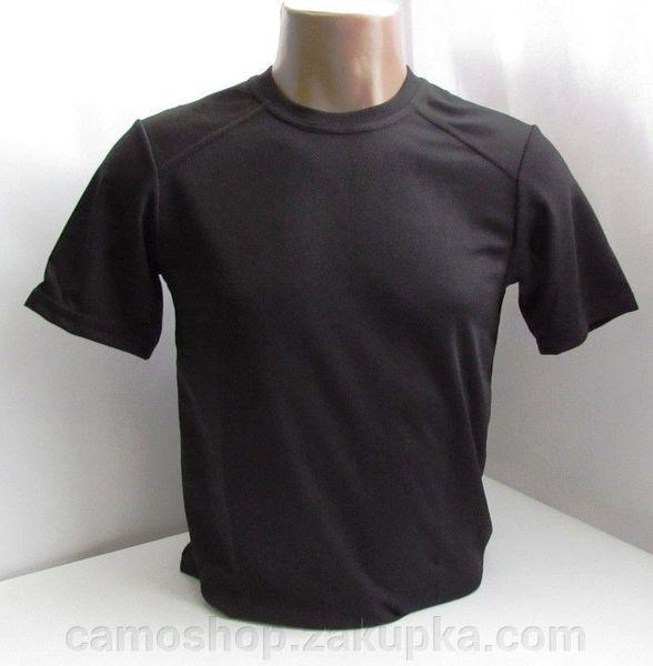 Термофутболка мужская потоотводящая из ткани кулмакс чёрная