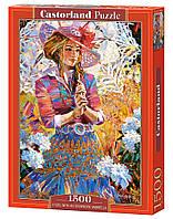 "Пазлы CASTORLAND 1500 ""A Girl With an Openwork Umbrella"" ПЗ-151363"