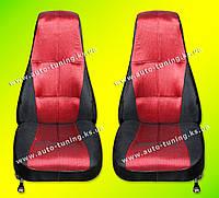 TR - Передние сиденья на ВАЗ 2101-2107, ткань жаккард, красный (клеточка)
