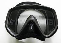 Маска BS DIVER 3-Vizion Mid чёрный силикон, трёхстёкольная