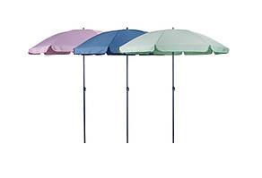 Пляжный и садовый зонтик от солнца (синий, розовый или зеленый)