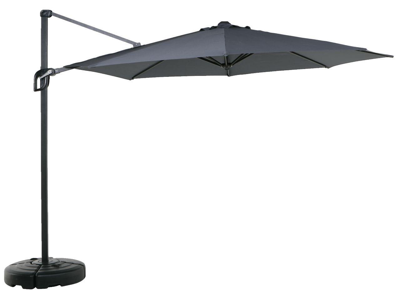 Пляжный и садовый зонт подвесной от солнца 300 см черный