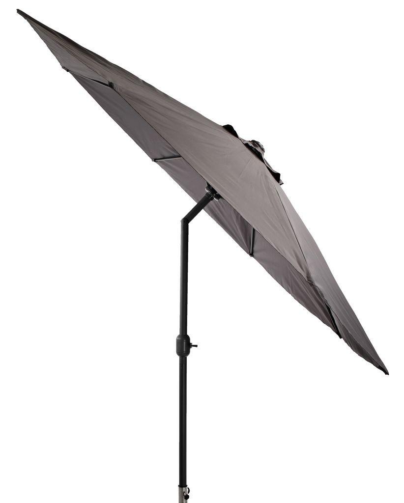 Пляжный и садовый зонтик большой от солнца 300 см серый с углом наклона