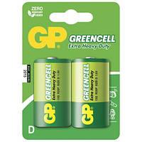 Батарейка GP Greencell 13G-S2 солевая R20 D 2шт в спайке