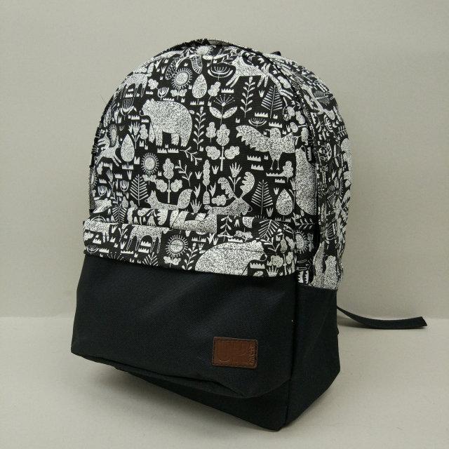 Рюкзак молодежный с узорами UKsport, черный ( код: IBR019-2 )