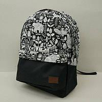 Рюкзак молодежный с узорами UKsport, черный ( код: IBR019-2 ), фото 1