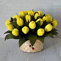 """Корзина с цветами из конфет """"Тюльпаны"""", фото 2"""