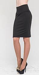Женская юбка с утяжкой, черная, р.42-52