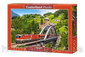 "Пазлы CASTORLAND 500 ""Train on the Bridge"" ПЗ-52462, фото 2"