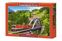 "Пазлы CASTORLAND 500 ""Train on the Bridge"" ПЗ-52462"