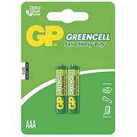Батарейка GP Greencell 24G-S2 солевая R03 ААА 2 шт в спайке