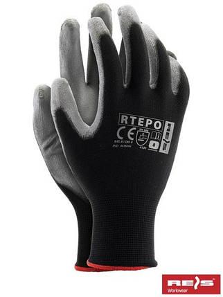 Защитные рукавицы изготовленные из полиэстера, покрытые полиуретаном RTEPO BS, фото 2